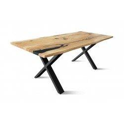 BURBAN-BL Solid Wood Dining Table