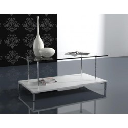 GAPRI Glass Top Coffee Table