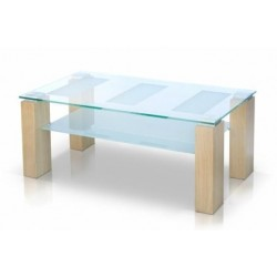 DABO Clear Glass Top Coffee Table