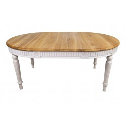 VADI Solid Wood Oval Dining Table