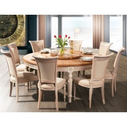 VADI Solid Wood Round Dining table FL 120