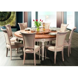 VADI Solid Wood Round Dining Table FL 180