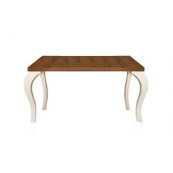 CELLEZA Walnut/White Dining Table With Extension