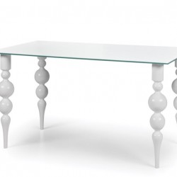 BELUX Clear Glass Dining Table