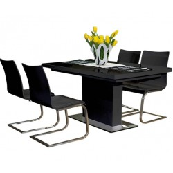 FEVITA Glass Top Dining Table With Extension