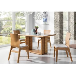TADERA Wood Dining Table with Extension