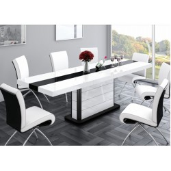LIANOSA White Gloss Dining Table with Extension